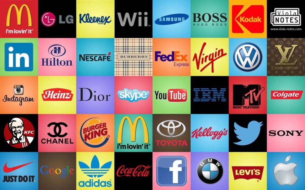 Логотипы крупных мировых брендов.