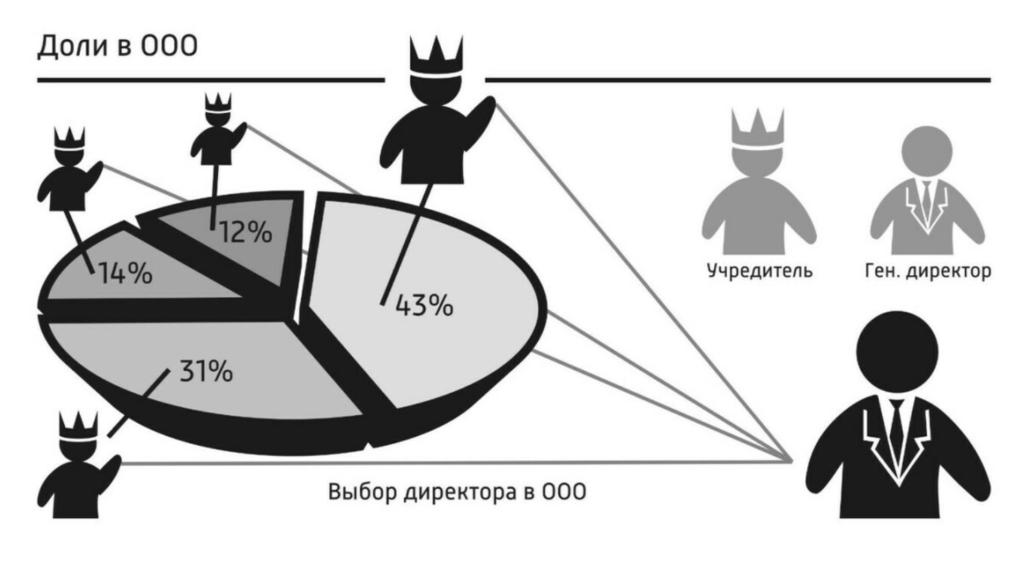 Схема учередителей общества с ограниченной ответственностью