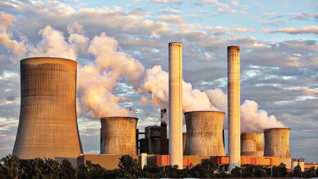 Завод на фоне голубого неба